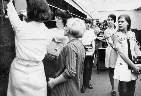 "Moving In-A ""Book Walk"" conducted by 500 ninth graders from Roosevelt Junior High School on May 23, 1969"